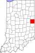 State map highlighting Randolph County