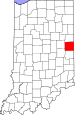 Map of Indiana highlighting Randolph County.svg