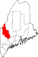 Map of Maine highlighting Franklin County.svg