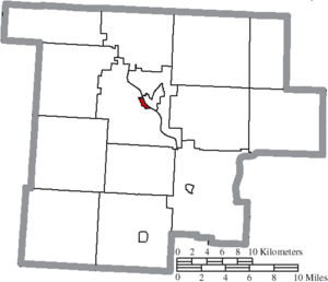 Malta, Ohio - Image: Map of Morgan County Ohio Highlighting Malta Village