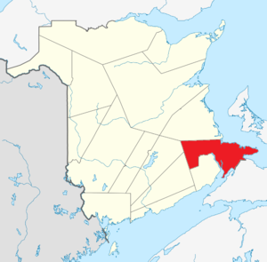Map of New Brunswick highlighting Westmorland County.png