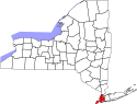 Location map of New York, New York.