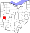 State map highlighting Miami County