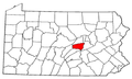 Map of Pennsylvania highlighting Snyder County.png