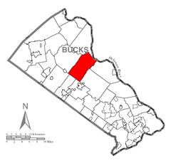 Map of Plumstead Township, Bucks County, Pennsylvania Highlighted.png