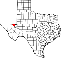 Map of Texas highlighting Loving County.svg