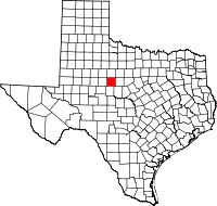 Map of Texas highlighting Taylor County.svg