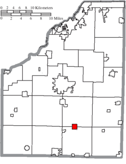 Location of Jerry City in Wood County