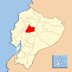 Location of Cotopaxi Province in Ecuador.