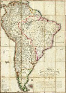 Mappa dell'America Meridionale (1790).
