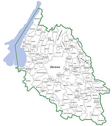 Mappa della provincia di Verona