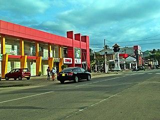 Marawila Town in North Western Province, Sri Lanka