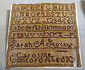 Marking sampler, Sarah A. Stow, Concord, early 1800s, linen - Concord Museum - Concord, MA - DSC05867.JPG
