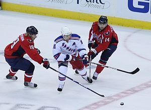 New York Rangers forward Markus Naslund stickh...