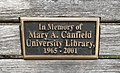 Mary A. Canfield Bench, American University.jpg
