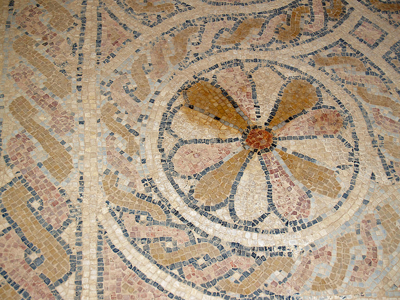 File masada byzantine church floor mosaic by david for Floor wikipedia
