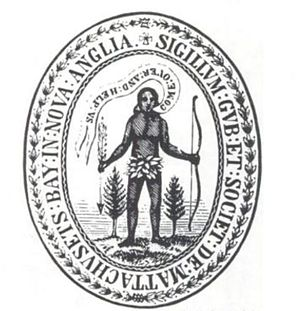 English: Seal of the Massachusetts Bay Colony