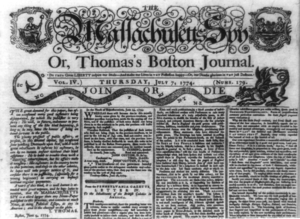 Isaiah Thomas (publisher) - Masthead of July 7, 1774 issue