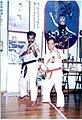 Master Dhayalan with Grandmaster Angi Uezu at Okinawa - 1997.jpg