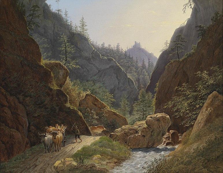 File:Matthias Rudolf Toma Bauer mit Ochsengespann bei Schottwien 1866.jpg