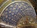 Mausoleo di Galla Placidia - prospettiva soffitto stellato e lunetta del buon pastore.jpg