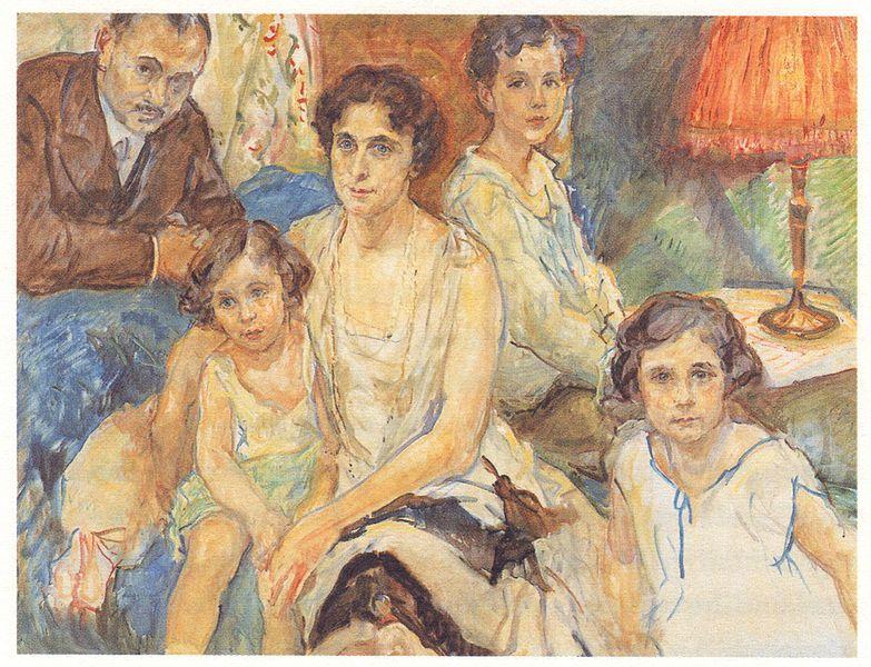 Peinture d'une famille juive par Max Slevogt au musée d'histoire juive allemande de Berlin.