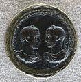 Medaglione di treboniano gallo e volusiano, 261-253, recto con loro busti laurati, corazzati e affrontati.JPG
