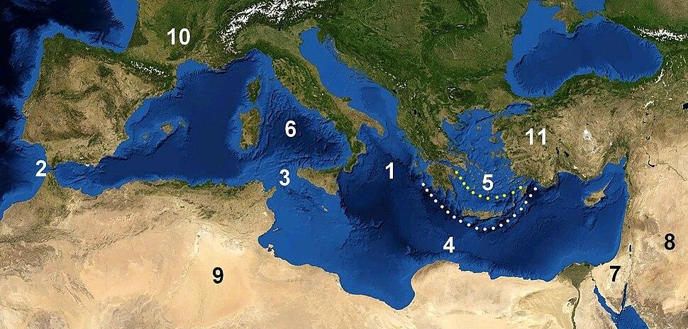 Mediterranian Sea places blank