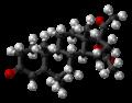 Medroxyprogesterone acetate molecule ball.png