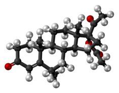 Medroxyprogesterone acetate molecule ball.png