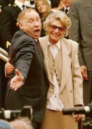 Anne Bancroft - Bancroft with husband Mel Brooks at the 1991 Cannes Film Festival