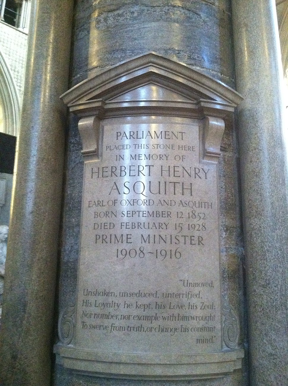 Memorial to Asquith in Westminster Abbey.jpeg