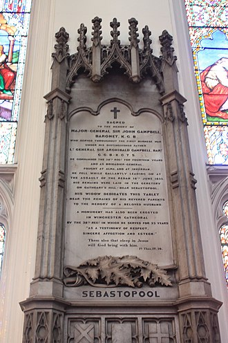 Sir John Campbell, 2nd Baronet - Memorial to Major General Sir John Campbell, St Johns Episcopal Church, Edinburgh