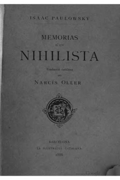 File:Memorias d'un nihilista (1886).djvu