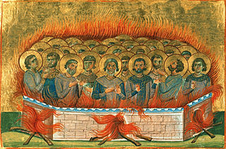 Agapius, Atticus, Carterius, Styriacus, Tobias, Eudoxius, Nictopolion, and Companions Christian martyrs burned at the stake