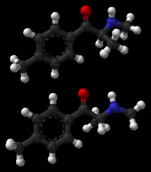 Mephedrone - Image: Mephedrone enantiomers Spartan HF 3 21G 3D balls