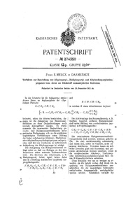 Merck MDMA synthesis patent