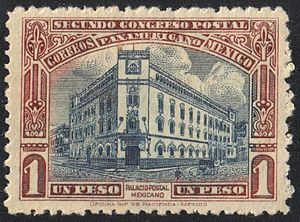 Postage stamps and postal history of Mexico - Palacio de Correos de Mexico