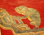 Mexico - Museo de antropologia - Pinturas murales caméléon.JPG