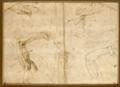 Michelangelo - Studien eines erhobenen Armes mit Schultergelenk, um 1504, 132.png