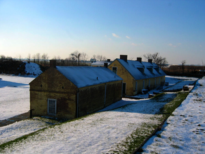 National Historic Landmark - The Soldiers Barracks at Fort Mifflin.