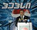 Mikheil Saakashvili at softdrink factory 2004-May-25.jpg