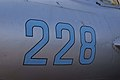 Mikoyan-Gurevich MiG-17F Fresco-C Buzz Numbers CFM 7Oct2011 (15138571238).jpg