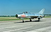 MiG-21F-13 of Vietnam People's Air Force captured by Americans in museum.