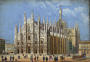 Gioseppe Caimo - The Duomo di Milano in 1856.  Caimo was organist here between 1580 and 1584.