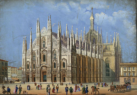 The Cathedral in 1856. Milano Duomo 1856.jpg