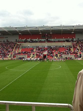 2012–13 Rotherham United F.C. season - Rotherham line-up with Barnsley in the first ever game to be held at The New York Stadium.