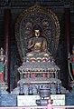 Ming era statue of Akshobhya (阿閦如来; Āchùrúlái), one of the Five Tathagathas (五方佛 Wǔfāngfó) or Five Wisdom Buddhas (五智如来 Wǔzhì Rúlái) at Huayan Temple (華嚴寺 or 华严寺), Datong, Shanxi, China.jpg
