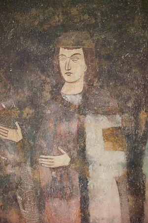 Stefan Milutin - Young prince Milutin, Fresco of Sopoćani.