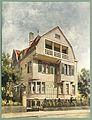 Moderne Villen in Meisteraquarellen Serie II Tafel 007 Essen Landhaus Mozartstraße 8.JPG